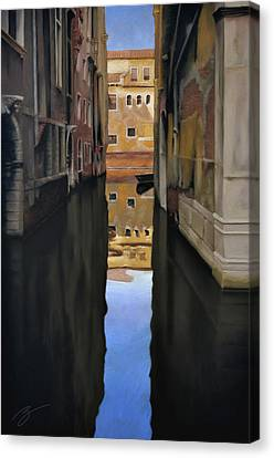 Venice Reflections - Pastel  Canvas Print