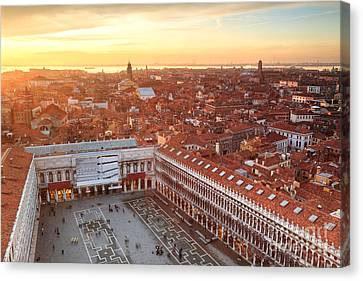 Venice Roofs Canvas Print by Matteo Colombo