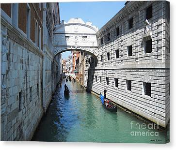 Venice Series 3 Canvas Print by Ramona Matei