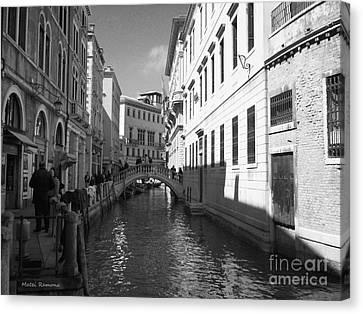 Venice Series 4 Canvas Print by Ramona Matei