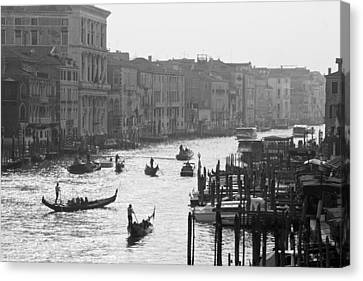 Canvas Print featuring the photograph Venice Grand Canal by Silvia Bruno