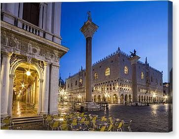 Venice St Mark's Square And Doge's Palace In The Morning Canvas Print