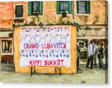 Sukkos Canvas Print - Venice Sukkah by Liz Leyden