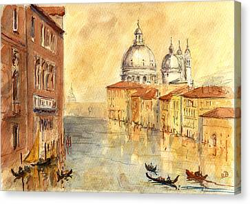 Venice Sunset Canvas Print by Juan  Bosco