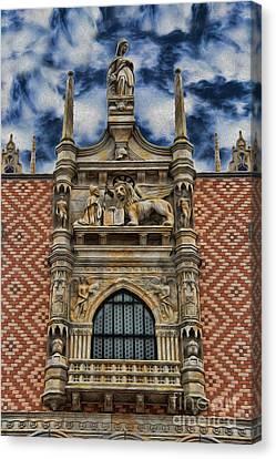Venice - The Lion Of Saint Mark Canvas Print by Lee Dos Santos