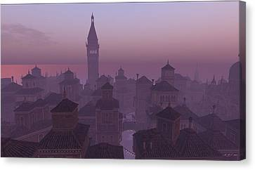 Venice Twilight Canvas Print by Amanda Holmes Tzafrir