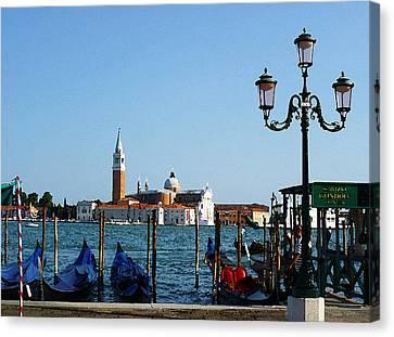 Venice View On Basilica Di San Giorgio Maggiore Canvas Print by Irina Sztukowski