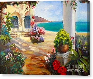 Canvas Print featuring the painting Venice Villa by Jenny Lee