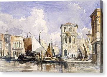 Venice Canvas Print by William James Muller