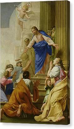 Gospel Of Matthew Canvas Print - Venite As Me Omnes by Eustache Le Sueur