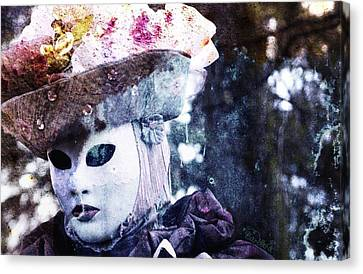 Canvas Print featuring the photograph Venitian Carnival - I Love Mystery by Barbara Orenya