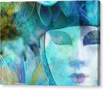 Canvas Print featuring the photograph Venitian Carnival - Mask by Barbara Orenya