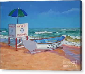 Ventnor Beach Patrol Canvas Print by Elisabeth Olver