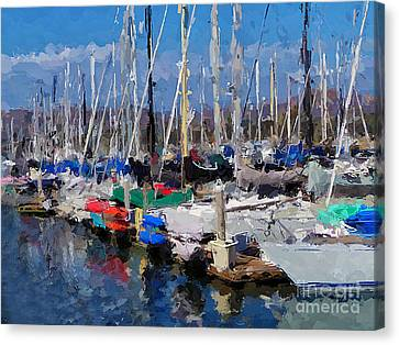 Ventura Harbor Village Canvas Print by Andrea Auletta