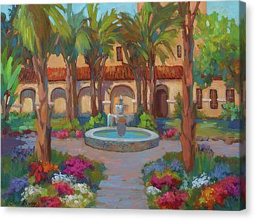 Ventura Mission Canvas Print by Diane McClary