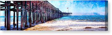 Canvas Print featuring the photograph Ventura Pier by Steve Benefiel