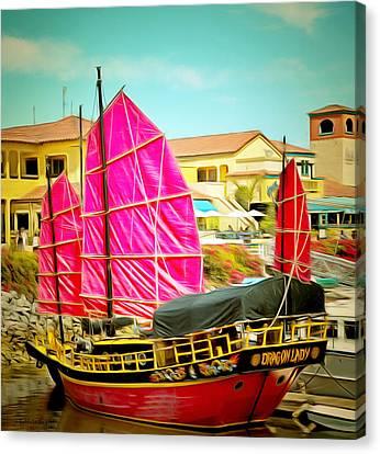 Venture Harbor Dragon Lady  Canvas Print by Barbara Snyder