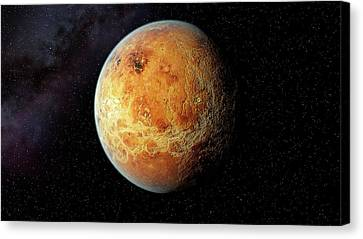 Venus And Its Rocky Surface Canvas Print