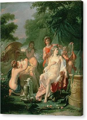 Venus At Her Toilet, 1760 Canvas Print by Hugues Taraval