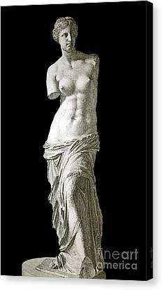 Venus De Milo Sculpture, 1880s Artwork Canvas Print