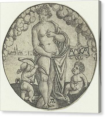 Venus, Monogrammist Ac 16e Eeuw, Hans Sebald Beham Canvas Print by Monogrammist Ac And Hans Sebald Beham