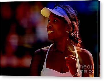 Venus Williams Canvas Print - Venus Williams by Marvin Blaine