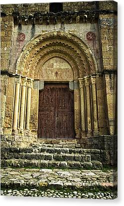 Medieval Temple Canvas Print - Vera Cruz Door by Joan Carroll