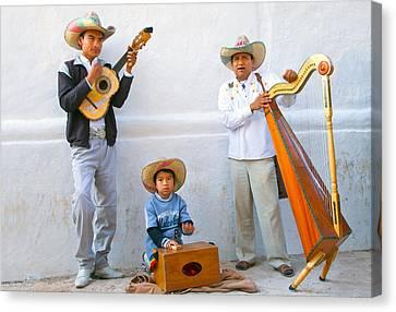 Canvas Print featuring the photograph Veracruz Troupe by John  Bartosik