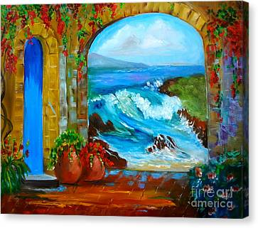 Veranda Ocean View Canvas Print