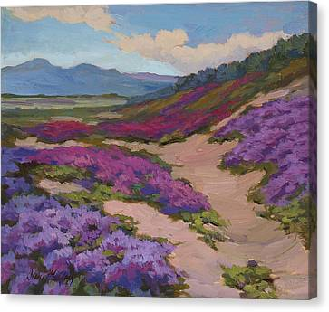 Verbena Harmony In Purple Canvas Print by Diane McClary