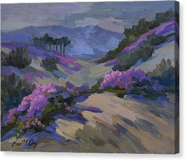 Verbena In Bloom Canvas Print by Diane McClary