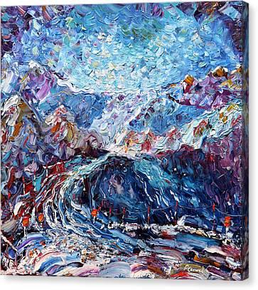 Verbier Ski Painting Canvas Print