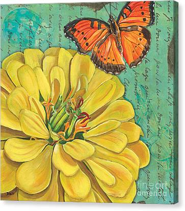 Verdigris Floral 2 Canvas Print by Debbie DeWitt
