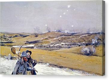 Verdun, 1916 Oil On Canvas Canvas Print by Francois Flameng