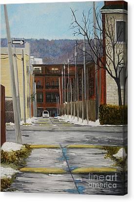 Verdun Lane Canvas Print by Reb Frost