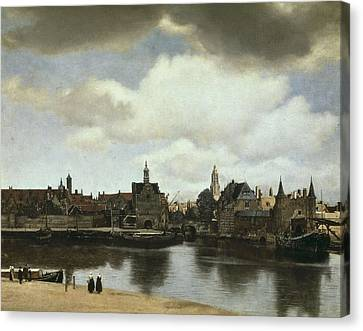 Vermeer, Johannes 1632-1675. View Canvas Print by Everett