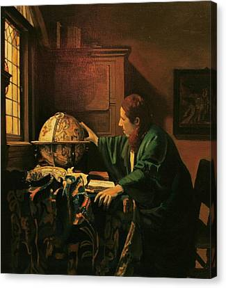 Vermeers The Astronomer Copy Canvas Print by Dan Koon