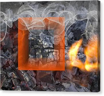 Vermilion On Fire Canvas Print