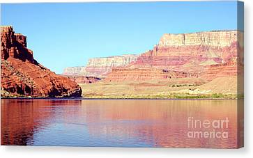 Vermillion Cliffs And Colorado River In Morning Light Canvas Print by Douglas Taylor
