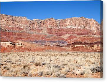 Canvas Print featuring the photograph Vermillion Cliffs Colors by Bob and Nancy Kendrick
