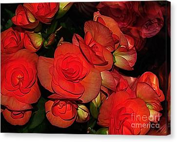 Vermillion Fire Canvas Print by Kaye Menner