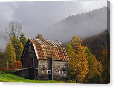 Vermont Autumn Barn Canvas Print