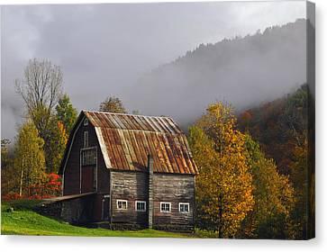 Vermont Autumn Barn Canvas Print by Joseph Rossbach