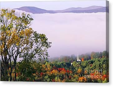 Vermont Autumn Morning Canvas Print by Alan L Graham