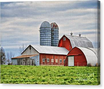 Vermont Barn In Oil Canvas Print
