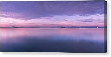 Vermont Burlington Lake Champlain Panorama Sunrise Canvas Print