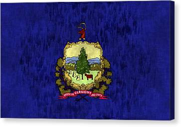 Vermont Flag Canvas Print by World Art Prints And Designs
