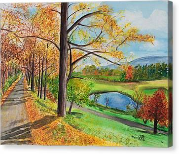 Vermont In The Fall Canvas Print