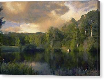 Vermont Morning Reflection Canvas Print by Jeff Kolker