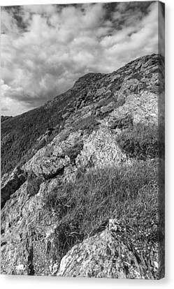 Vermont-mount Mansfield Summit-black And White Canvas Print by Andy Gimino